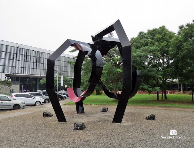 Vista da Escultura Aranha exposta no Parque Ibirapuera - São Paulo