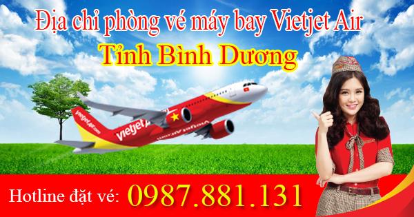 danh sách địa chỉ phòng vé máy bay Vietjet Air tại Bình Dương