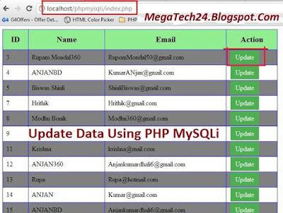 php mysqli update