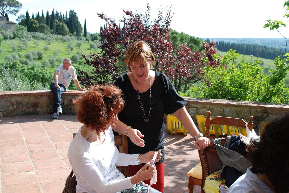 Knitting in Chianti