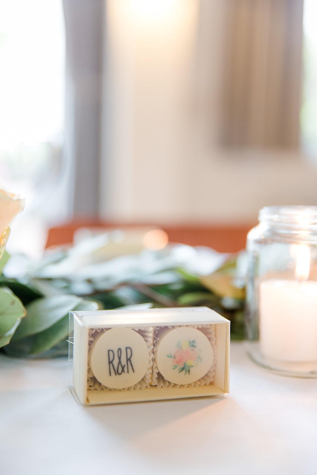 Hochzeitsgastgeschenke Pralinen bedruckt