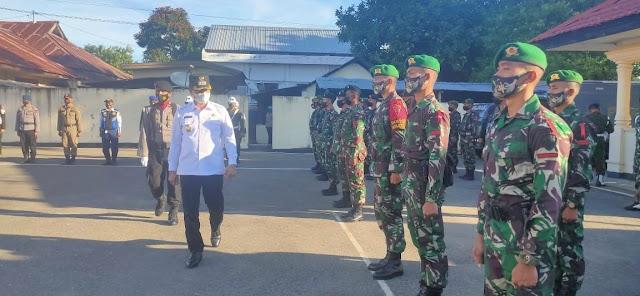 Sinergitas TNI-Polri Di Belu Siap Amankan Perayaan Idul Fitri Tahun 2021.