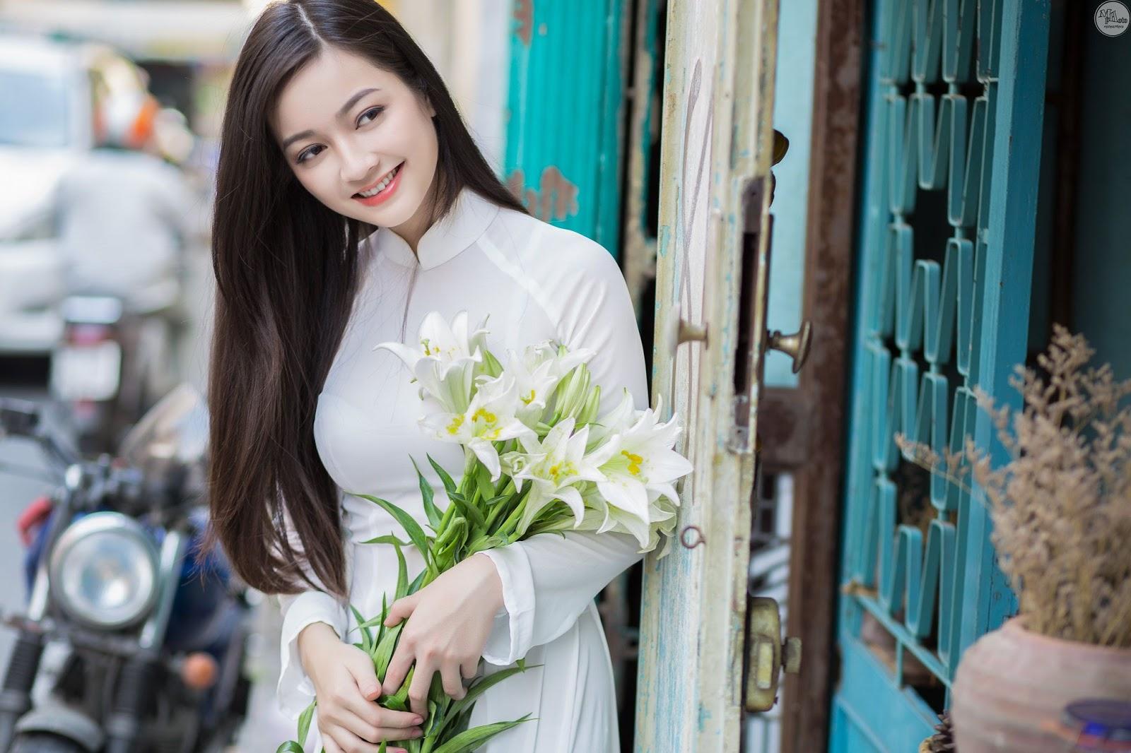 Top ảnh girl xinh Việt với áo dài thướt tha đẹp mê mẩn lòng người #2