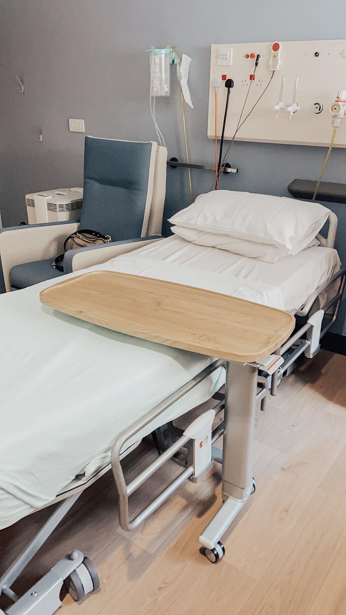 Hospital bed, Llandough Hospital, Cardiff