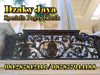 Pagar besi tempa mewah rumah mewah klasik Surabaya