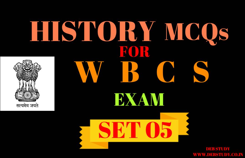 Mcq History Of India Mcqs For Wbcs Exam Set 05 Deb Study