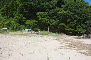 砂浜区画サイト