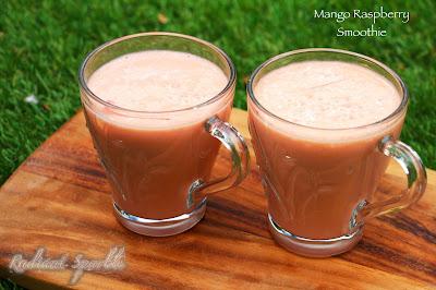 ... Little World of Food, Photography & Fun!: Mango Raspberry Smoothie