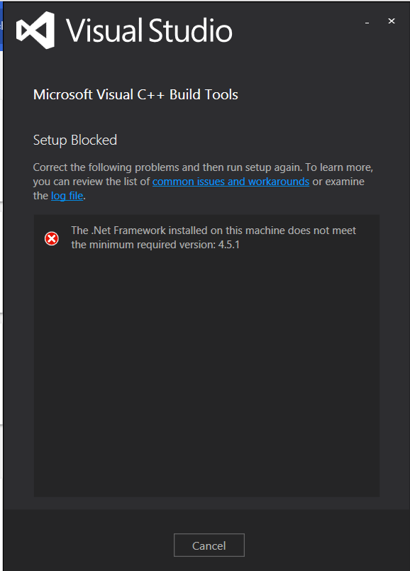 microsoft visual c++ 14.0 python error