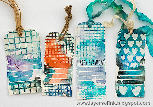 Layers of ink - Quick Watercolor Gift Tags Class Skillshare class by Anna-Karin