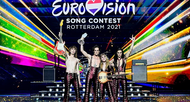 Stupid controversy against Italian band Måneskin that stormed to victory on Saturday night at the 2021 Eurovision Song Contest .