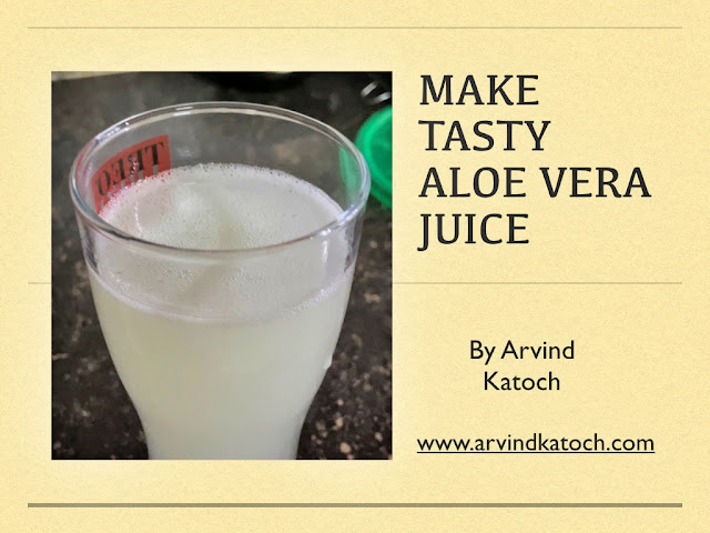Make a Tasty and Healthy Aloe Vera juice at Home (4K Video)