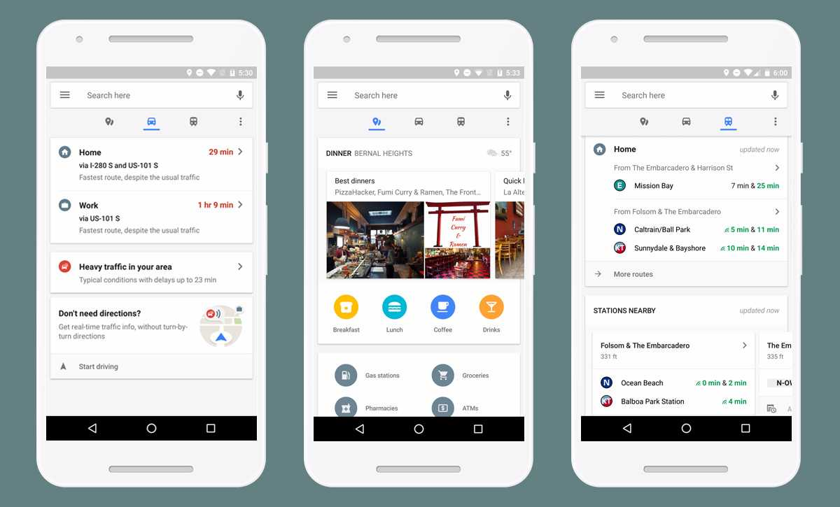 Google Maps Update Gets Real-Time Commute Info in New Bottom Toolbar