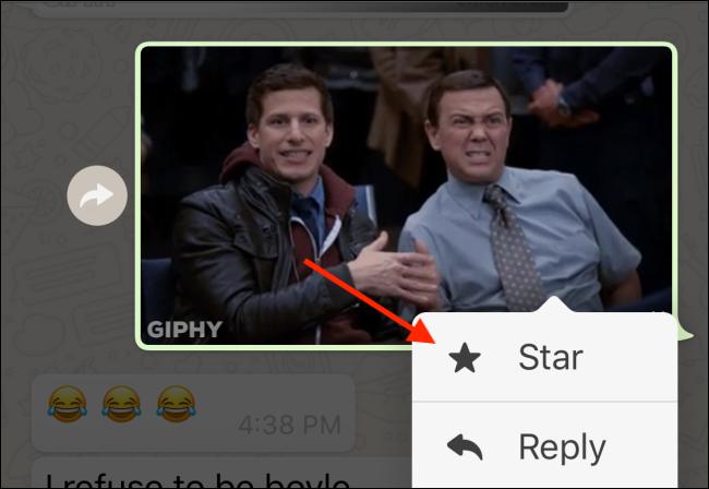 اضغط على زر Star لبدء GIF