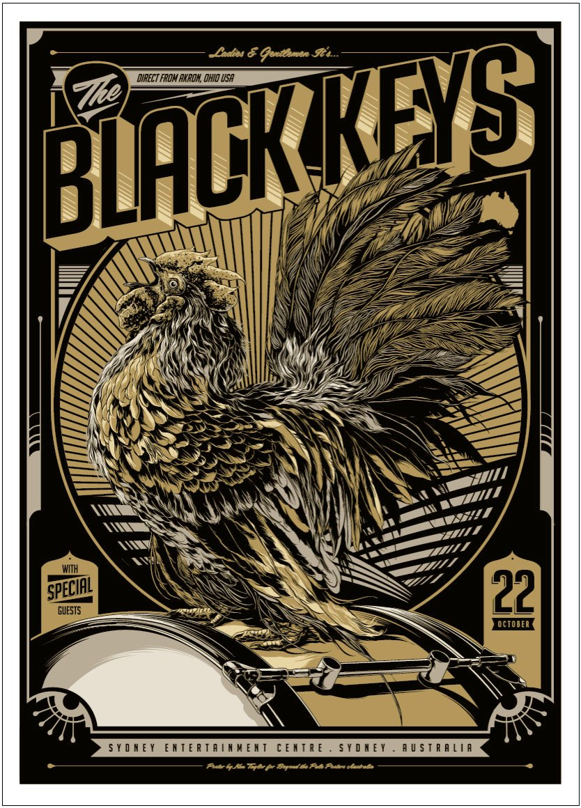 inside the rock poster frame blog tonights the black