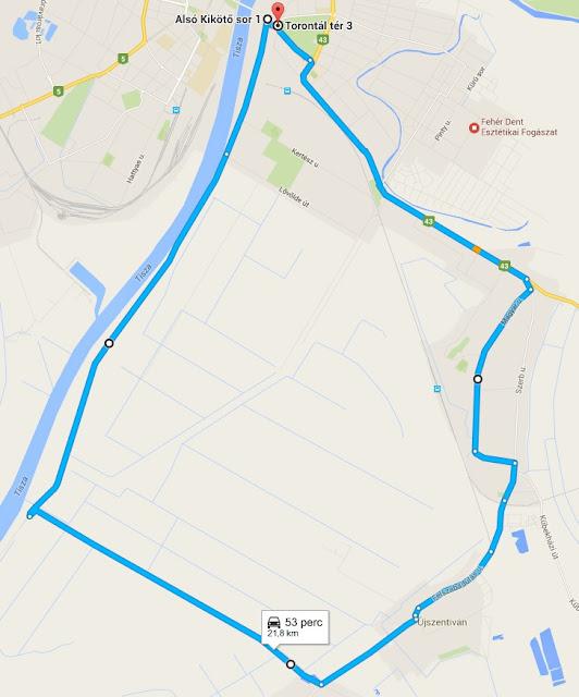 Tiszasziget-Szeged körtúra biciklivel