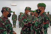 11 Prajurit TNI AD Kodim Terluar Kodam XIV Hasanuddin Mendapatkan Kenaikan Pangkat