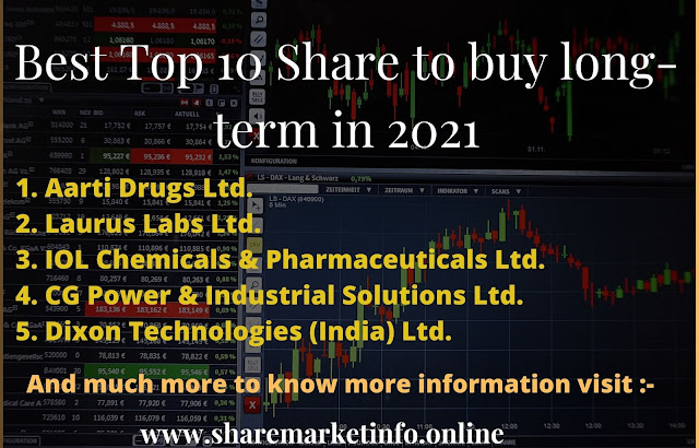 Best Top 10 Shares To Buy For Long Term In 2021 in india