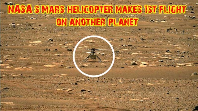 NASA helicopter makes 1st flight on another planet