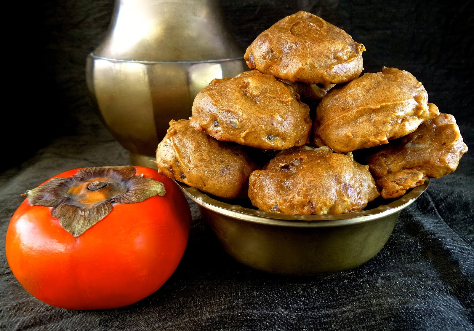 Persimmon cookies recipe spicy soft easy fuyu hachiya nutmeg cinnamon cloves