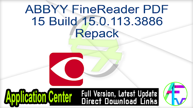 ABBYY FineReader PDF 15 Build 15.0.113.3886 Repack