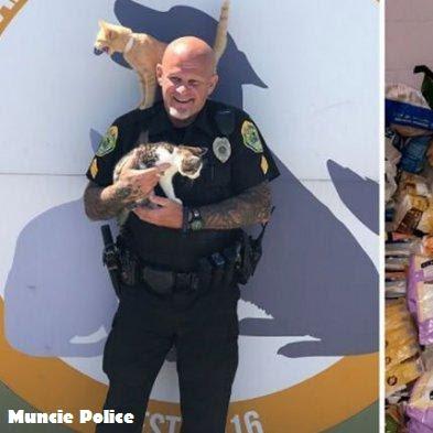 Ketika Kepolisian Muncie Membantu Shelter Mengumpulkan Donasi