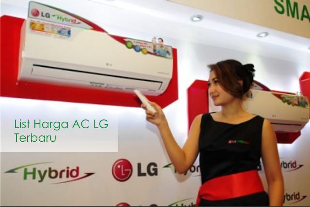 List daftar Harga AC LG Terbaru