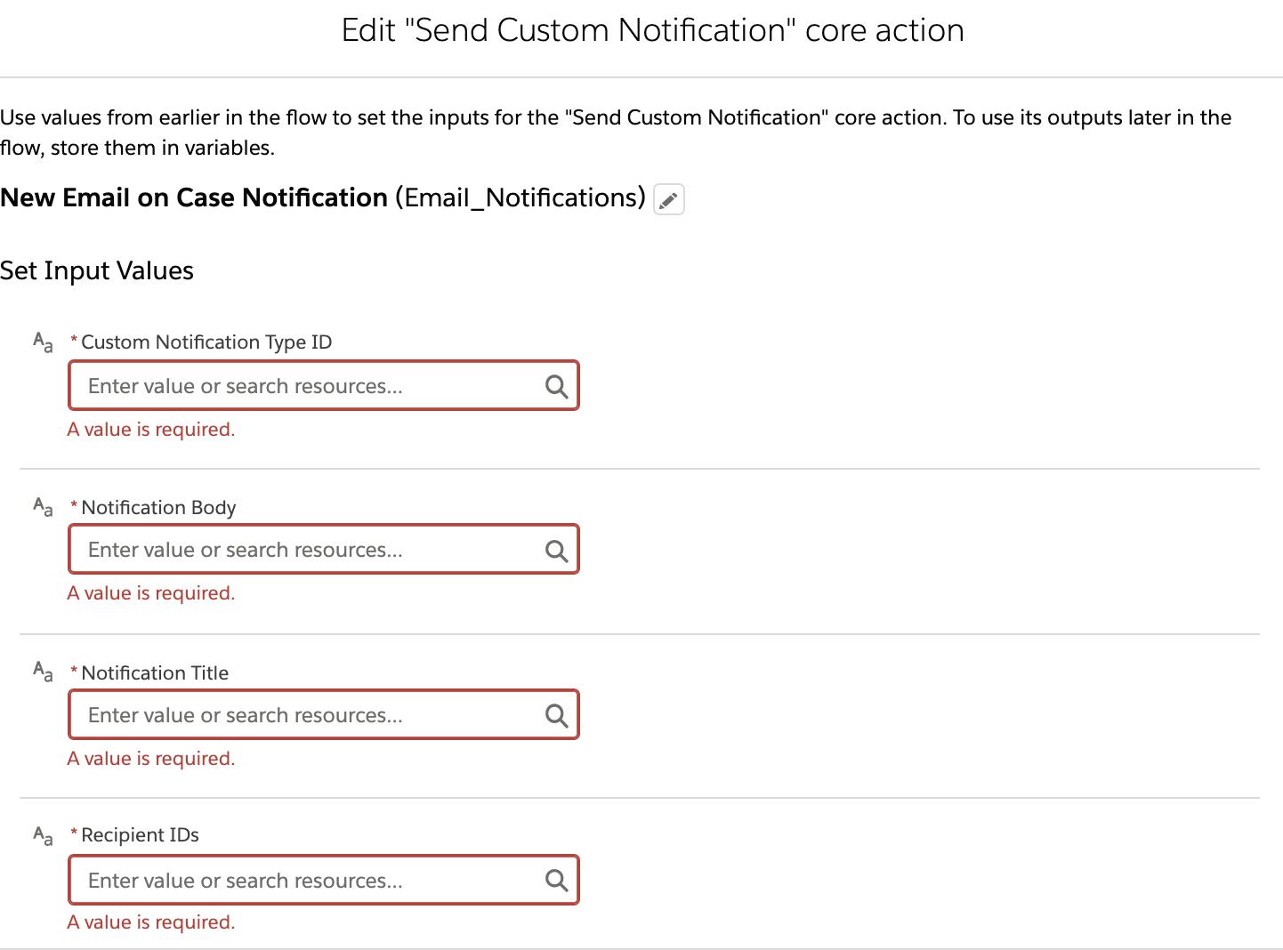 Send Custom Notification from Flow