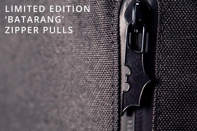 batarang zipper pulls