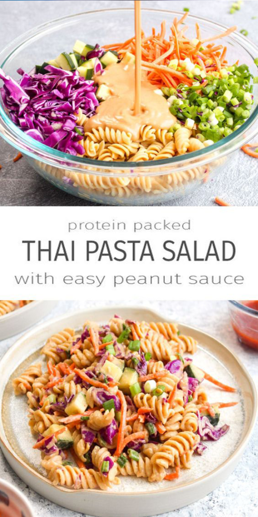 Protein Packed Thai Pasta Salad Recipes