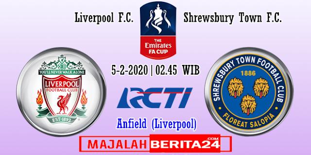 Prediksi Liverpool vs Shrewsbury Town — 5 Februari 2020