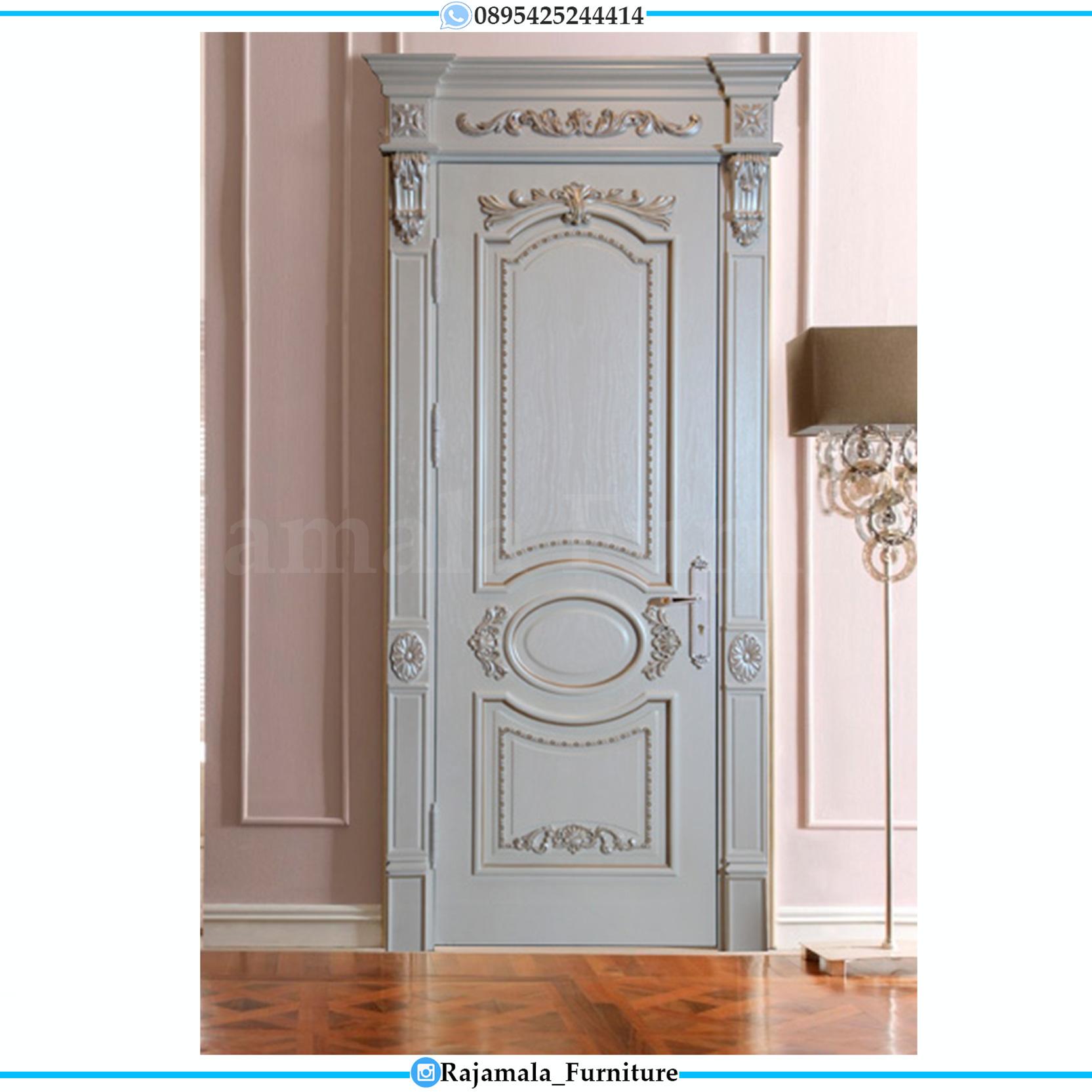 Pintu Rumah Modern Cat Duco Ukiran Luxury Mebel Jepara RM-0055