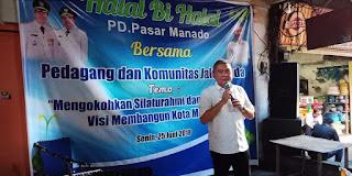 PD Pasar Gelar Halal Bi Halal Bersama pedagang dan komunitas Jarod