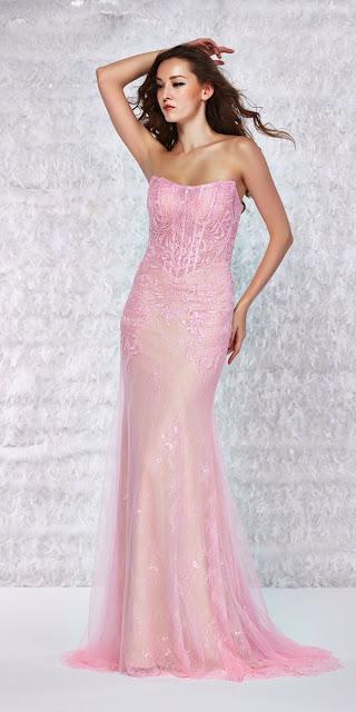 vestidos largos con corset de noche