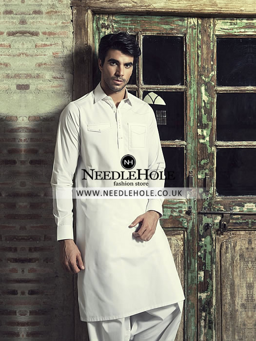 645d2a0a70 Mens Kurta Shalwar UK: Men double pocket shalwar kameez by designer ...