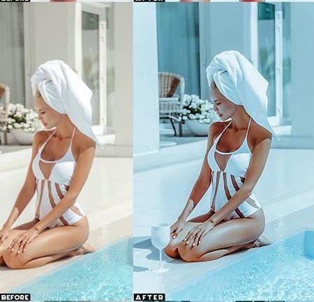 Vibrant Portrait Photoshop Action - Tạo blend màu xanh đẹp