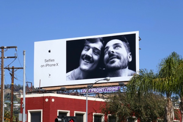 Selfies on iPhone X Thomas H billboard