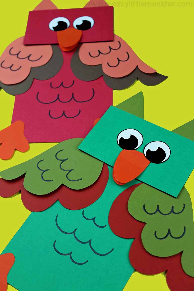 Paper bag crafts for kids - Animal puppets