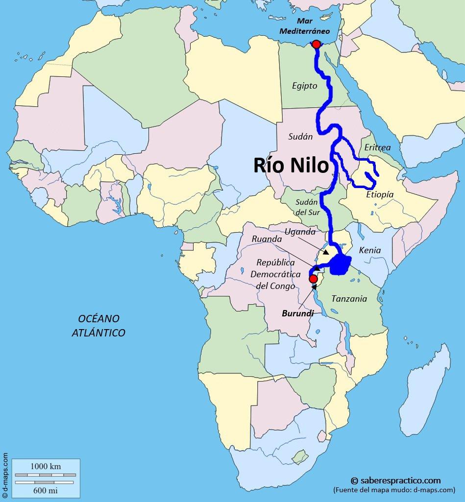 Mapa De Africa Rios.La Hidrografia De Africa
