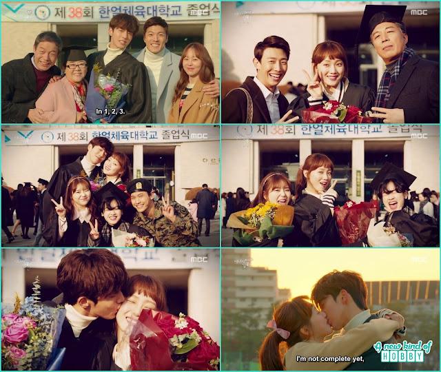 bok joo and joon hyung kiss at the campus -  Weightlifting Fairy Kim Bok Joo: Episode 16 Finale