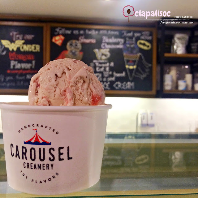 Carousel Creamery Strawberry Balsamic Ice Cream