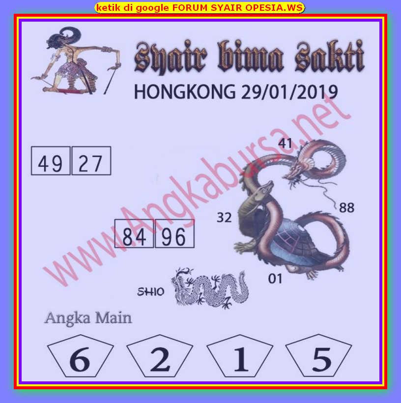 Kode syair Hongkong Rabu 29 Januari 2020 188