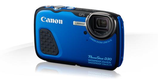 Cámara acuática Canon PowerShot D30