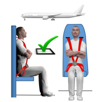 Brace position in aft-facing cabin crew