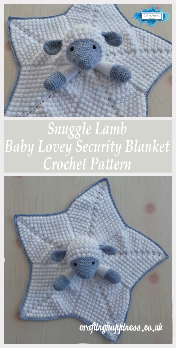 Crochet Pattern: Snuggle Lamb Baby Lovey Security Blanket