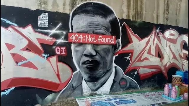 Polisi Buru Pembuat Mural 'Jokowi 404: Not Found': Presiden Lambang Negara