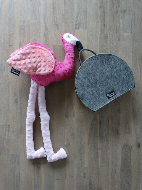 flaming różowy maskotka handmade 1
