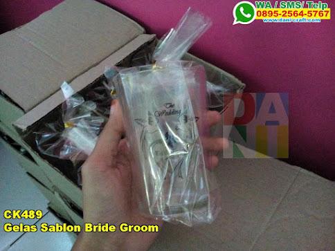 Harga Gelas Sablon Bride Groom