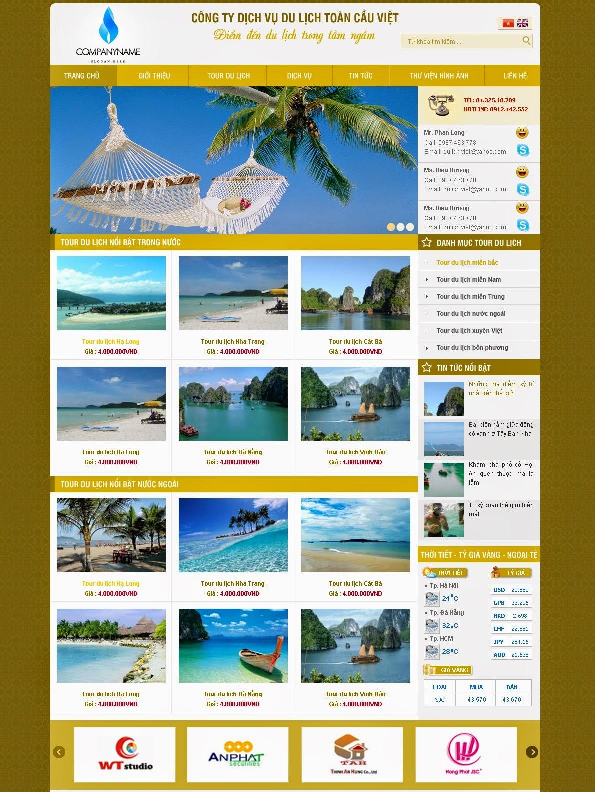 thiết kế web du lịch giá rẻ