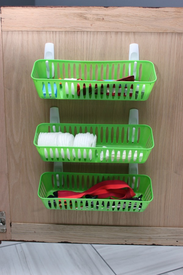 12 ways to organize with command hooks organizing made for Bathroom storage ideas b q